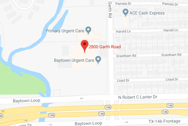 Map of 2800 Garth Road, Baytown, TX 77521