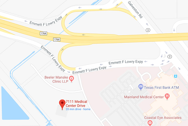 Map of 7111 Medical Center Drive, Texas City, TX 77591